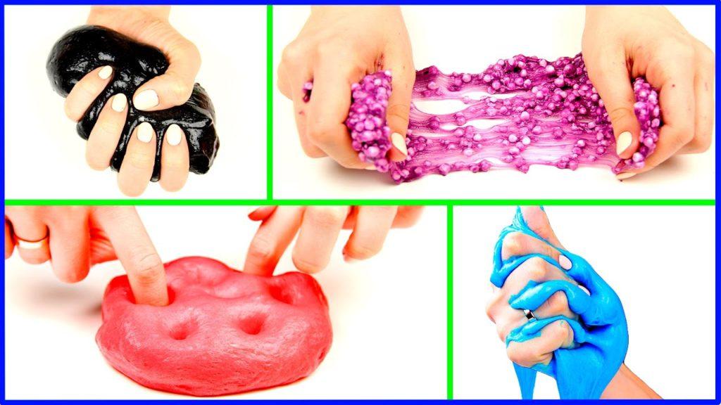 Как сделать слайм без клея, без тетрабората натрия, своими руками в домашних условиях